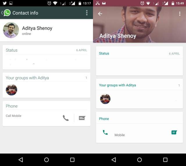 WhatsApp updated to Material Design; Download it now