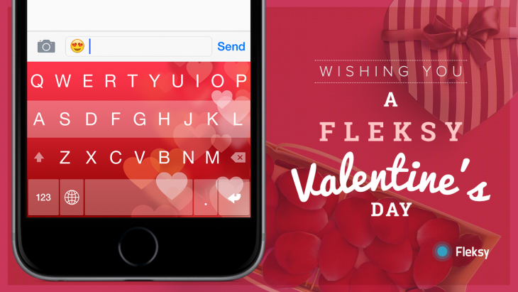 Fleksy 5.2 For Android And iOS Updated With A New Valentine Day Theme And More