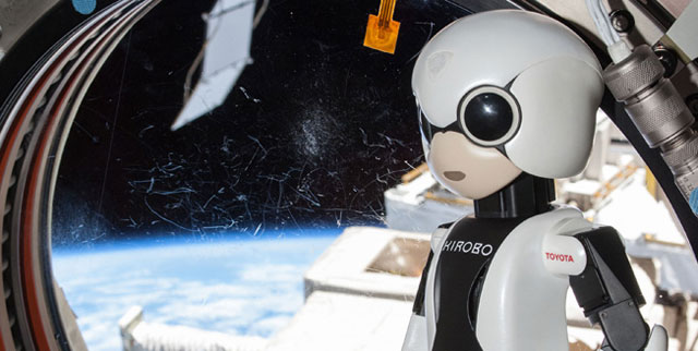 Kirobo The Humanoid Robot Does First Space Chat