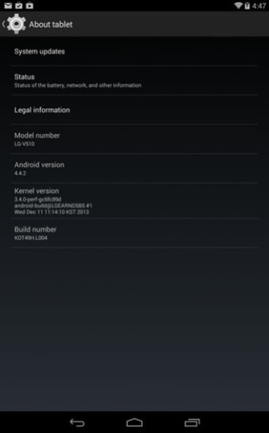 LG G Pad 8.3 Google Play Edition Gets Android 4.4.2 Update