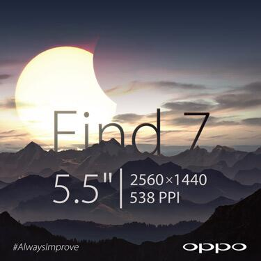 Oppo Find7 To Feature 5.5-inch 2K Display